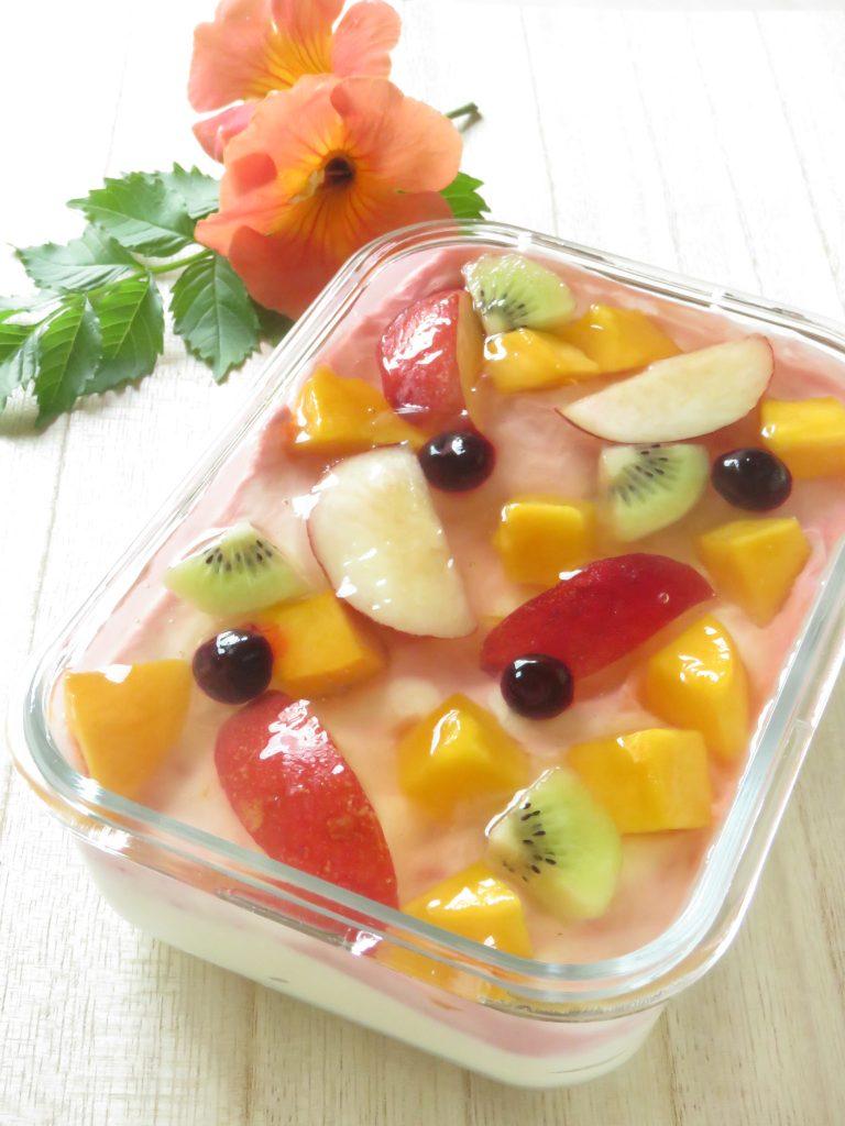 フルーツヨーグルトスコップケーキ