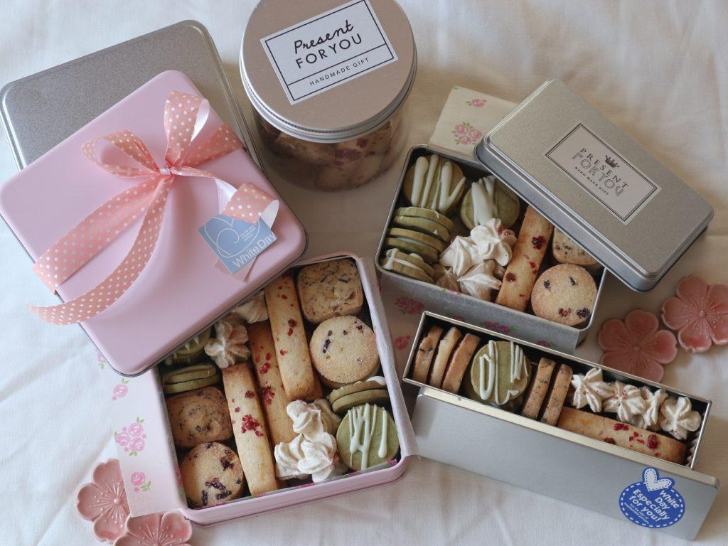 春のクッキー缶