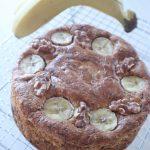 くるみとバナナのキャラメルケーキ