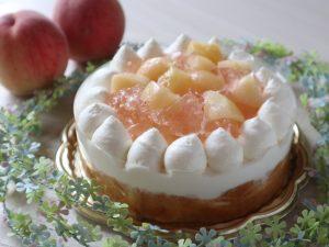 13:00-対面◎桃のケーキ【空1】